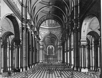 The Inside of the Cathedral Church of St Paul's, London: 18th century