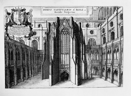 View of Old St Paul's Chapter House: 17th century