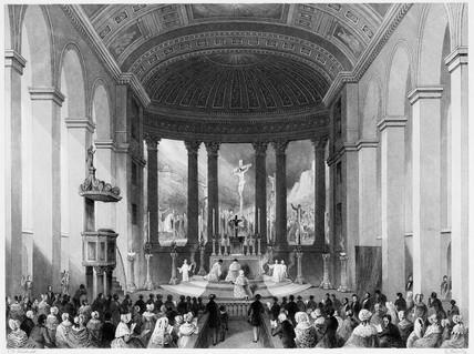Roman Catholic Chapel, Moorfields: 1841