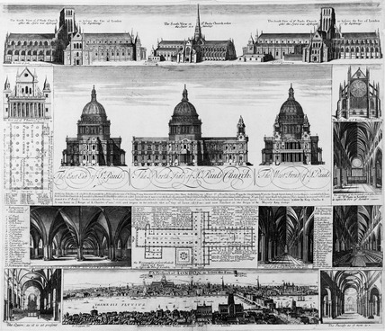Various views of St Paul's Cathedral: 1731
