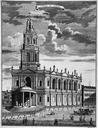 St Mary le Strand: 18th century
