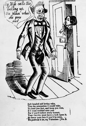 Comic valentine's card: 19th century