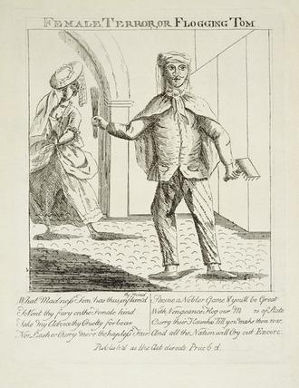 Female Terror, or Flogging Tom: 18th century