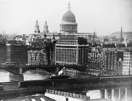 View of St. Pauls Cathedral from the Southbank of the River Thames