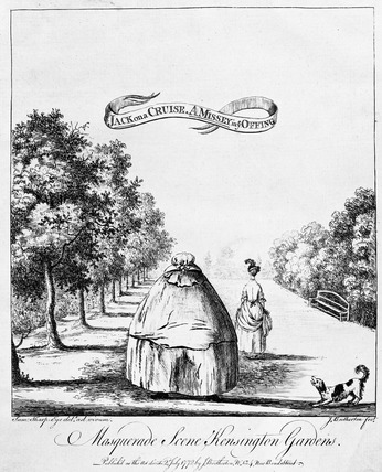 Masquerade Scene, Kensington Gardens: Jack on a Cruise, A Missey in ye Offing: 1772