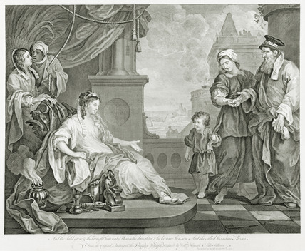 Moses before the pharaoh's daugther: 1752