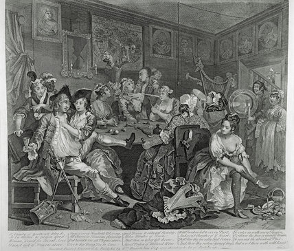 Rakes's Progress, the Rake being robbed of his watch: 1735