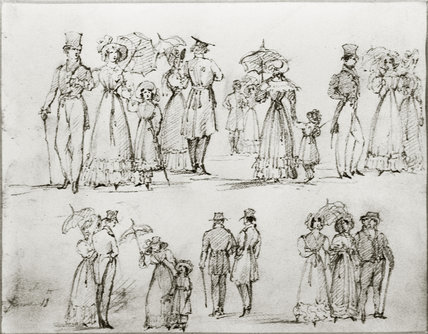 Studies of London street costume: 19th century
