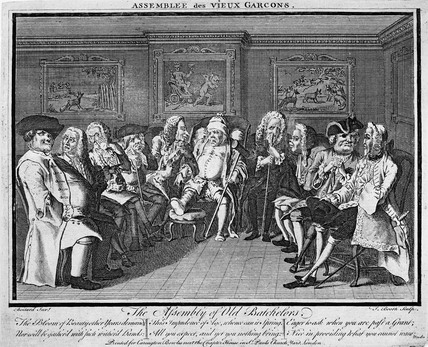 The Assembly of Old Batchelors: 18th century