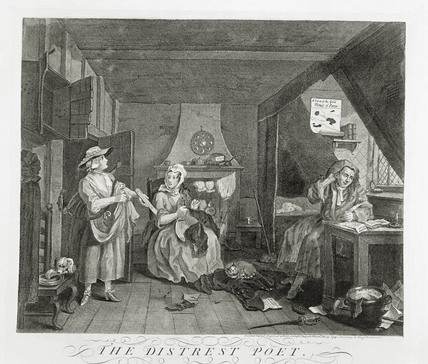 The Distressed Poet: 1740