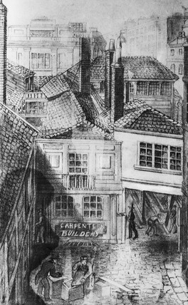 View of 139 St Martin's Lane, Charing Cross: 19th century
