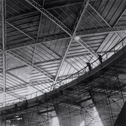 Construction of the Dome of Discovery: 1949