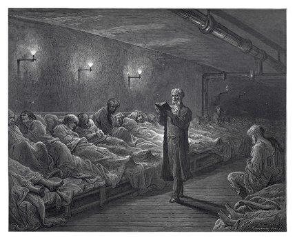 Scripture reader in a night refuge: 1872