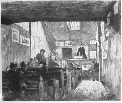 Room in a refuge house for the poor: 1884