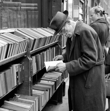 Browsing for books Charing Cross Road: 1957