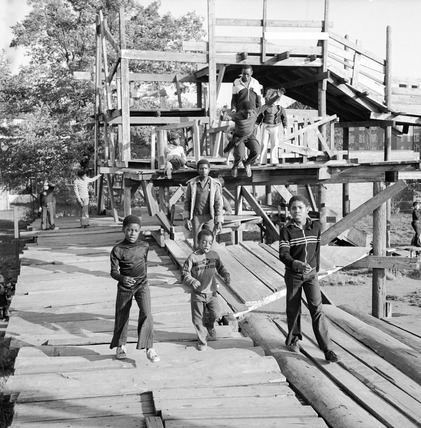 Adventure playground Hackney: 1978