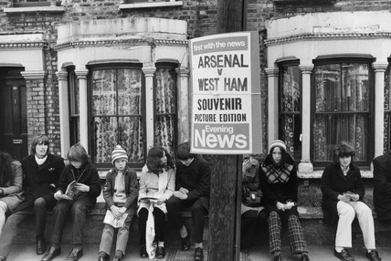 Football fans, Highbury: 20th century