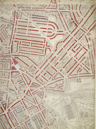 Descriptive map of London Poverty: Section 4: 1889