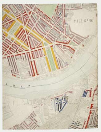 Descriptive map of London Poverty: Section 44: 1889