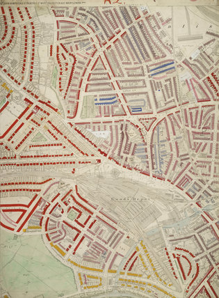 Descriptive map of London Poverty: Section 3: 1889