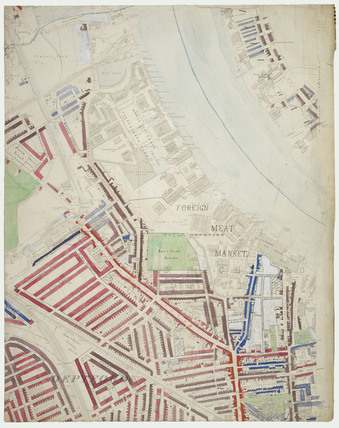 Descriptive map of London Poverty: Section 50: 1889