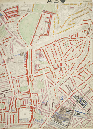 Descriptive map of London Poverty: Section 6: 1889