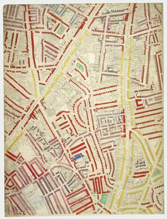 Descriptive map of London Poverty: Section 55: 1889