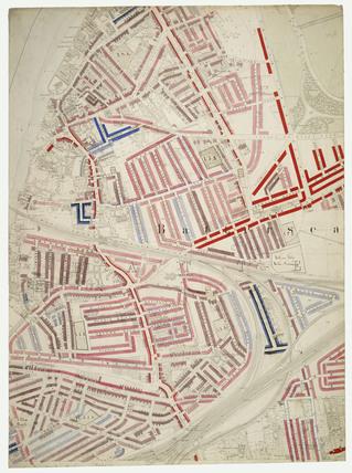 Descriptive map of London Poverty: Section 52: 1889