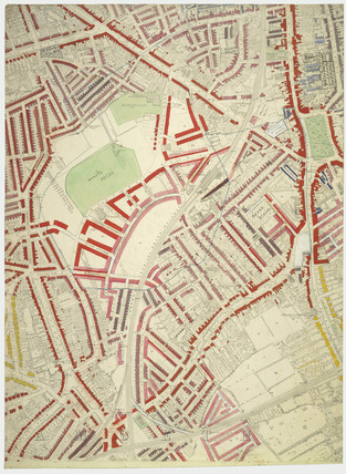 Descriptive map of London Poverty: Section 56: 1889
