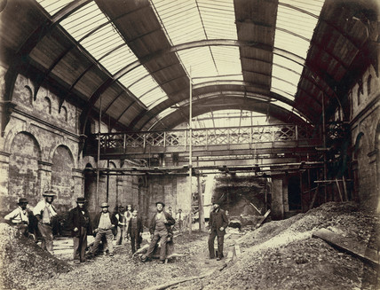 Interior of Praed Street Station (Paddington Station):  1866-1868