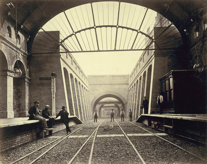 Notting Hill Gate Station after completion: 19th century