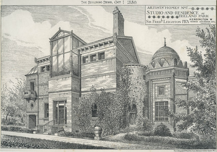 Artists' Homes No. 7 Studio and Residence at Holland Park Sir Fredk. Leighton PRA:1880