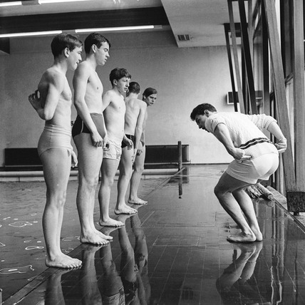 Boys' swimming lesson: 1959-1966