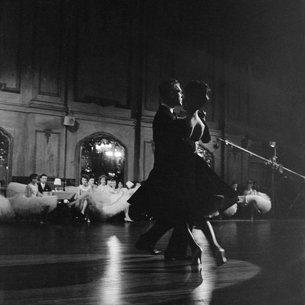 A couple ballroom dancing:1950-1970