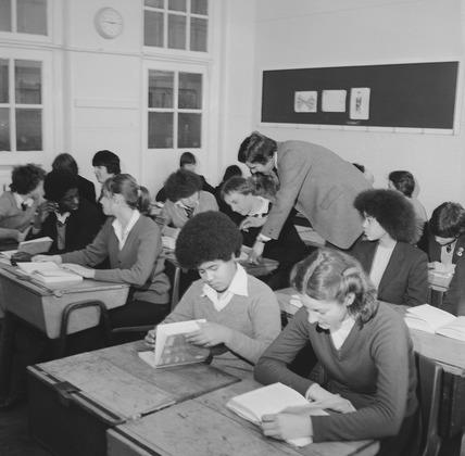 Secondary school classroom: 1980