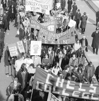 Student protest: 1975