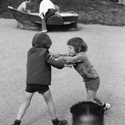 Two children fighting: 1977