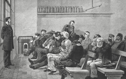 Waiting to see the Doctor:  c.1880