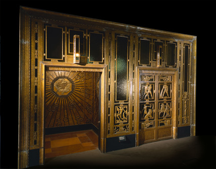 Selfridges store lift: 1928