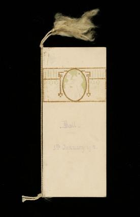 Dance card: 1912