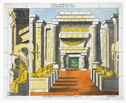 'Zoroaster or The Spirit of the Star' scenery sheet: 1824