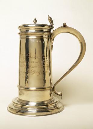 Silver tankard: 1676