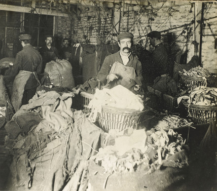 Salvation Army rag depot: c.1900