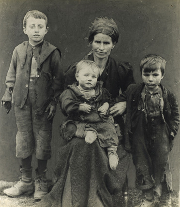 A poverty stricken East End family: c.1900