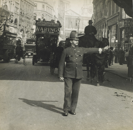 Traffic Policeman on Ludgate Hill: c.1930