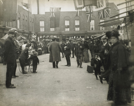 East End street celebration: c.1900