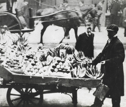 Fruit and vegetable stall: c. 1910