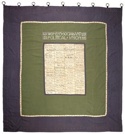 Suffragette banner: 1910
