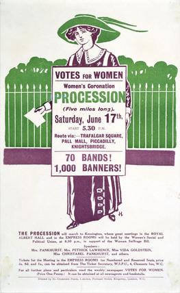 Votes for Women Handbill: 1911
