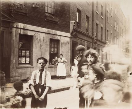East End street scene: c.1900